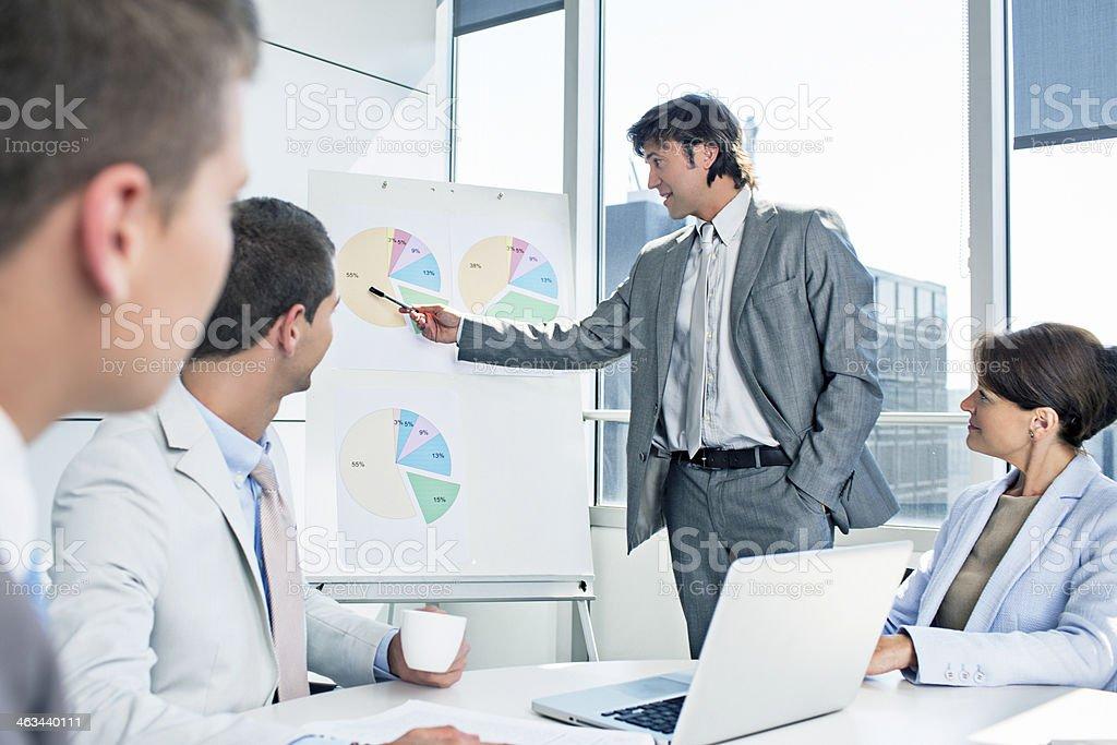 Presentation charts royalty-free stock photo
