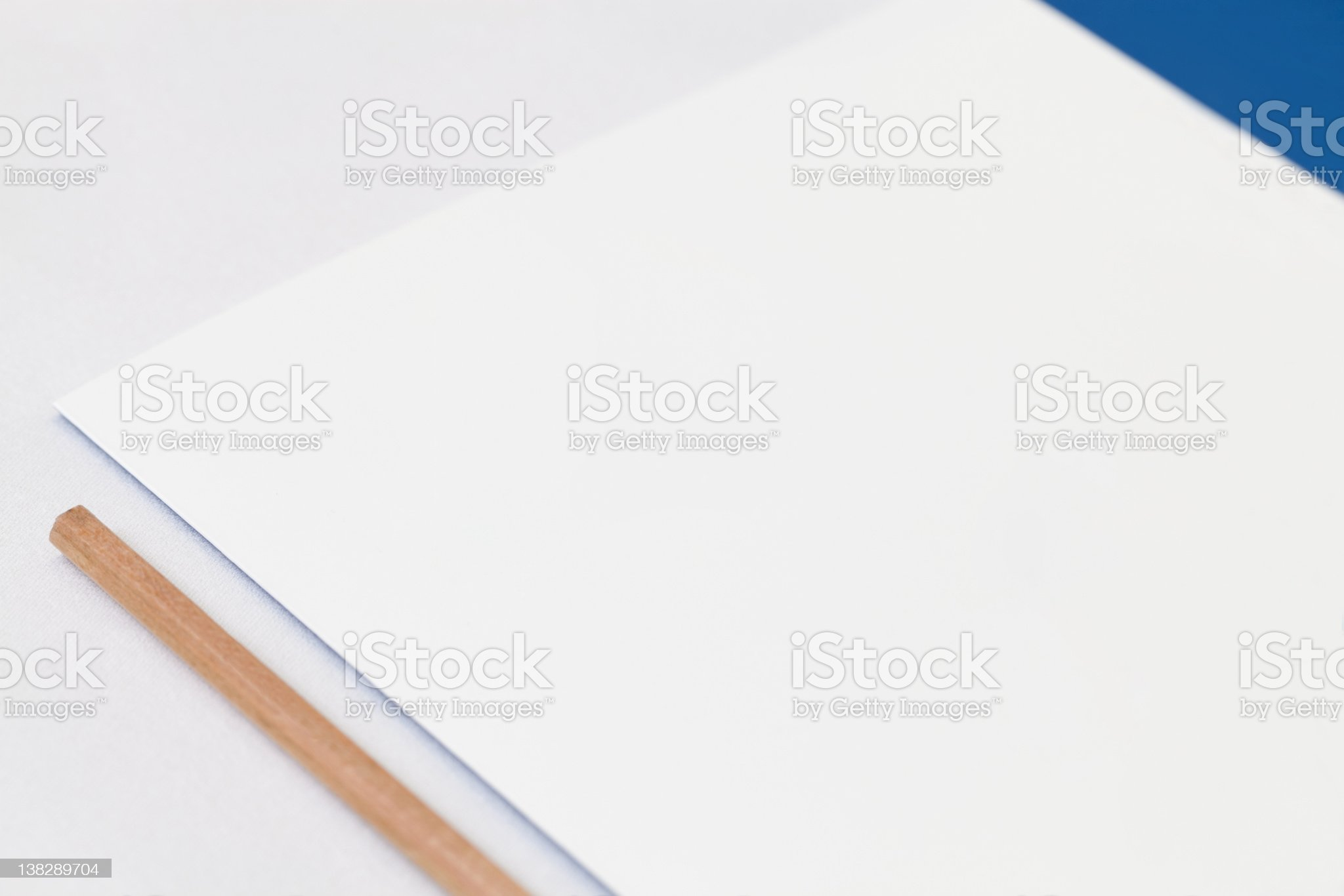 Presentation Folder and pencil royalty-free stock photo