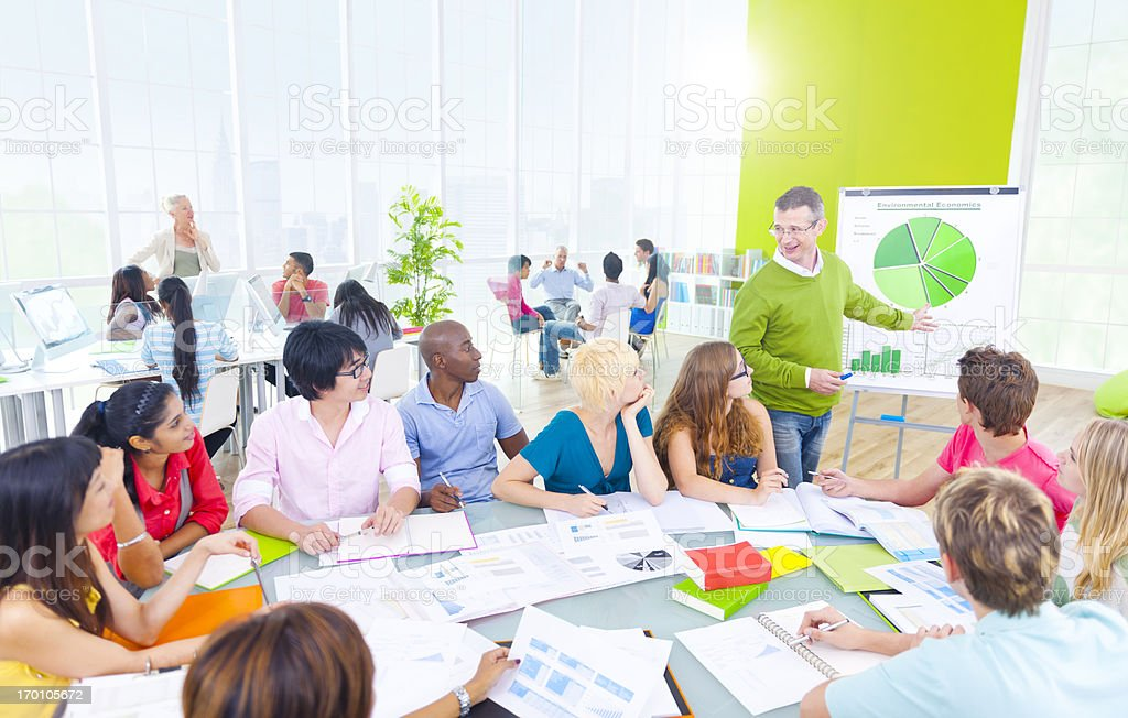 Presentation in classroom. royalty-free stock photo
