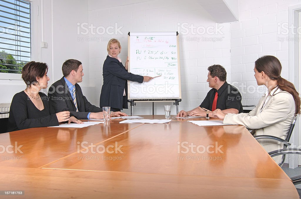 presentation meeting royalty-free stock photo