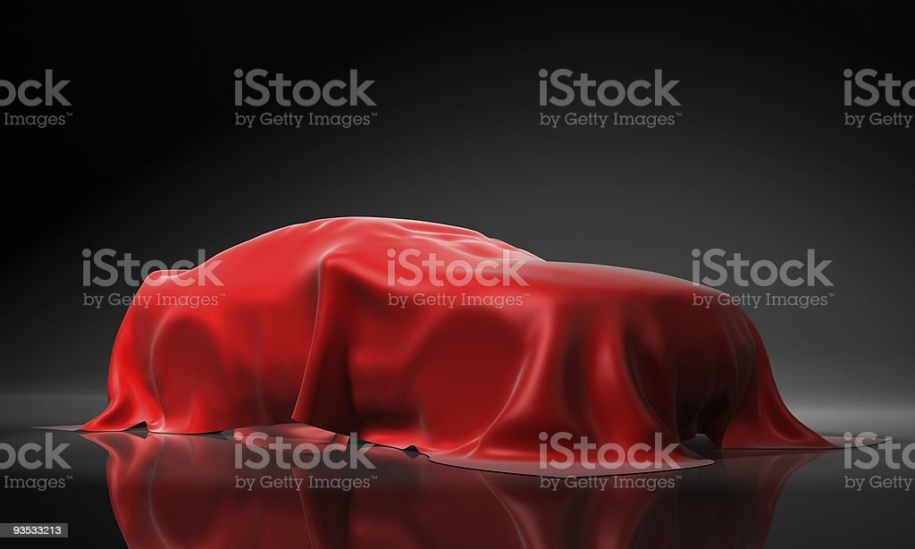 Presentation of the new car royalty-free stock photo