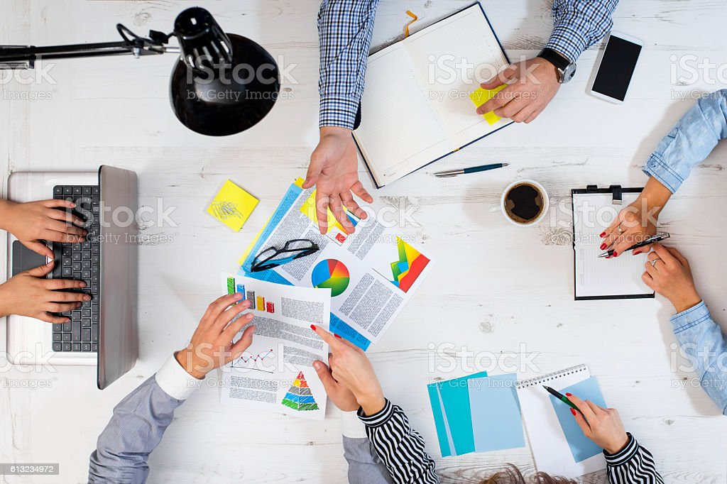 Presentation of work stock photo