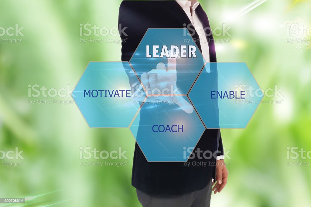 Presentation on how to become a leader stock photo