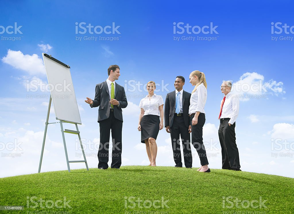 Presentation on the hill royalty-free stock photo