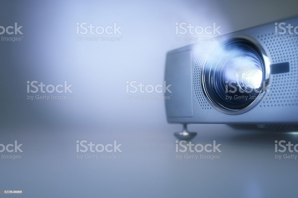 Presentation with lcd video projector stock photo
