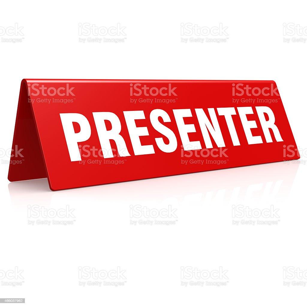 Presenter banner stock photo