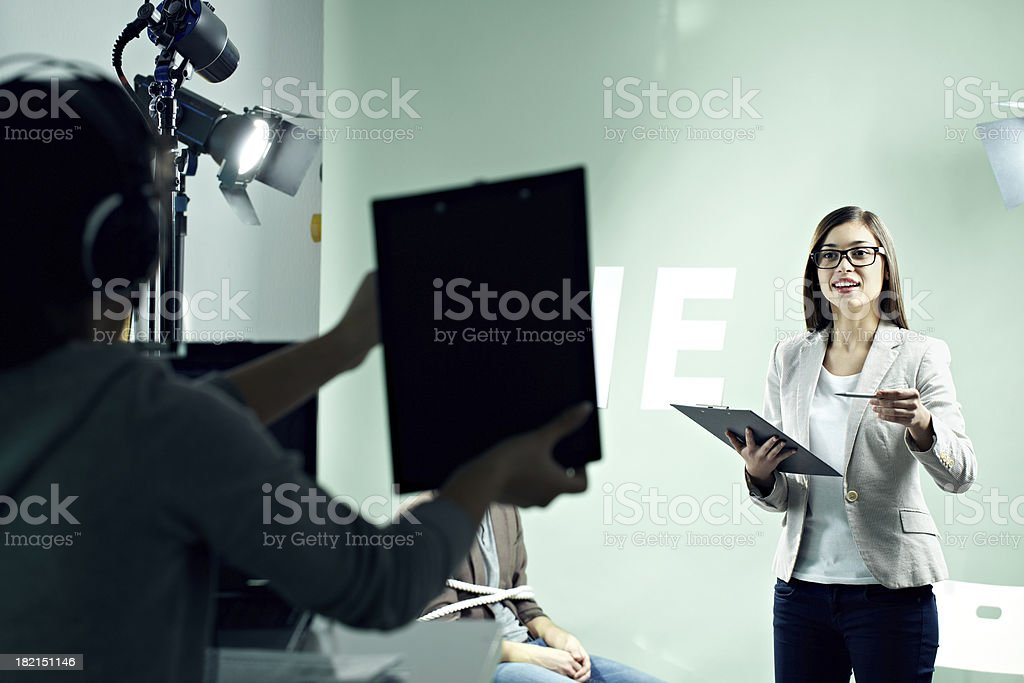 Presenter stock photo