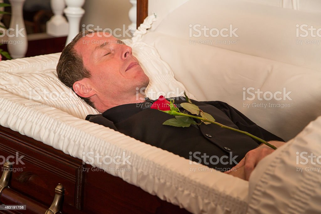 Presenting a rose stock photo