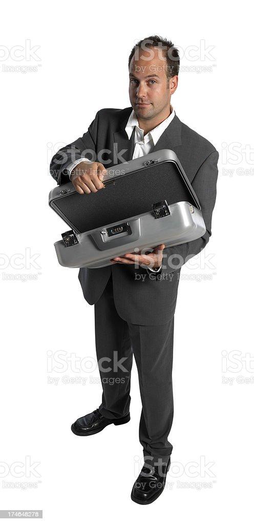 Presenting businessman royalty-free stock photo