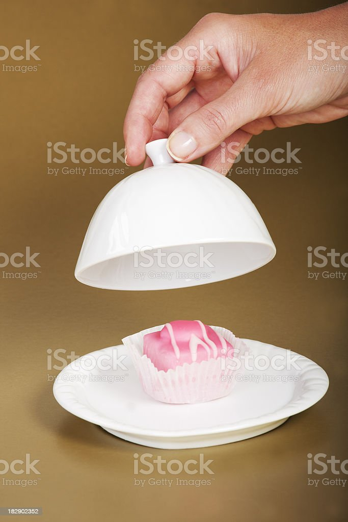 presenting cake royalty-free stock photo