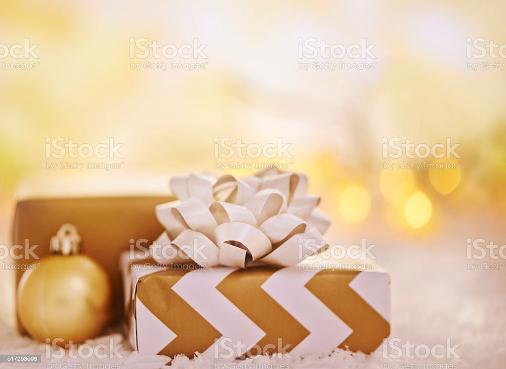 Presenting... Christmas! stock photo