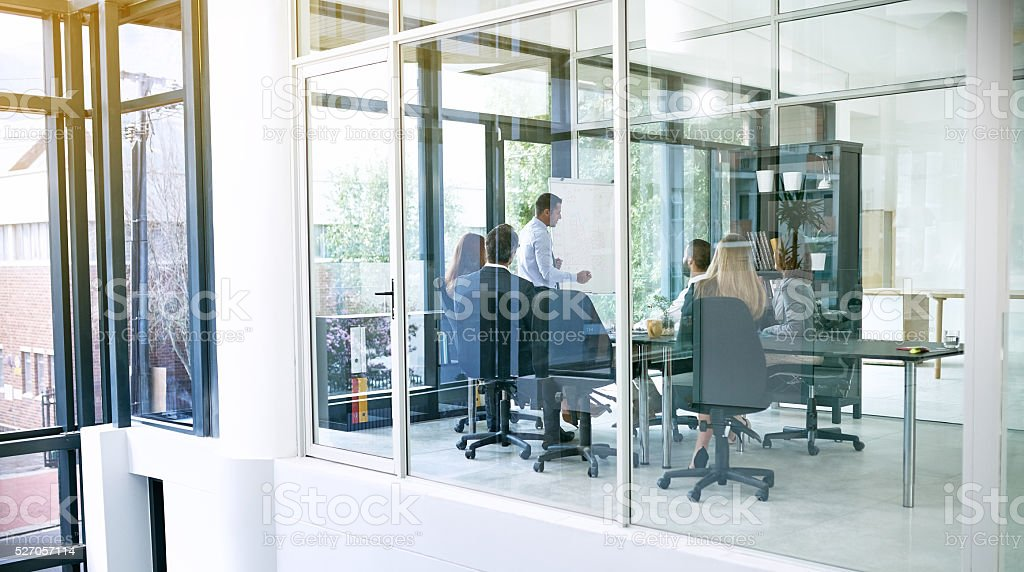 Presenting current and future growth stock photo