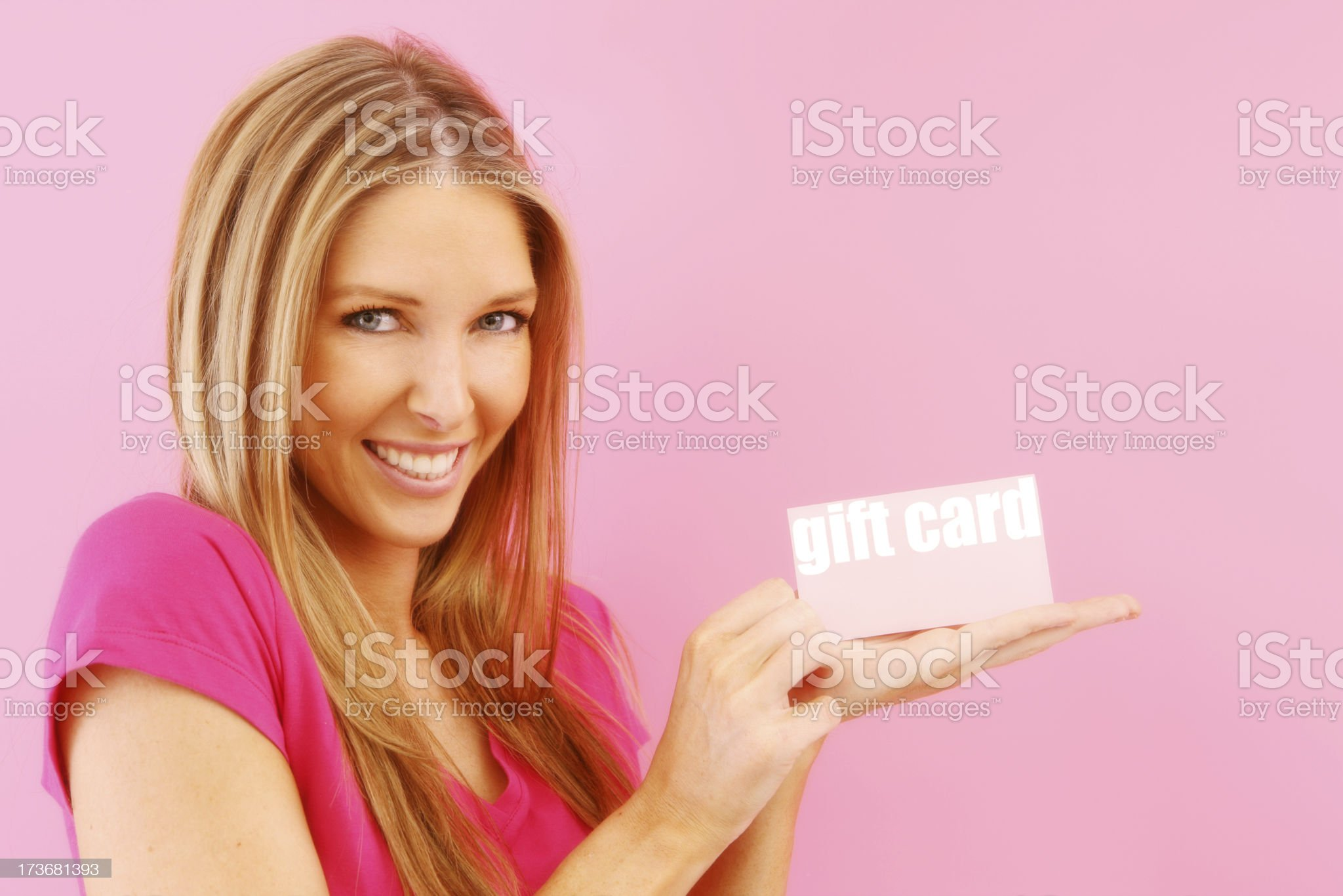 Presenting Gift Cards royalty-free stock photo