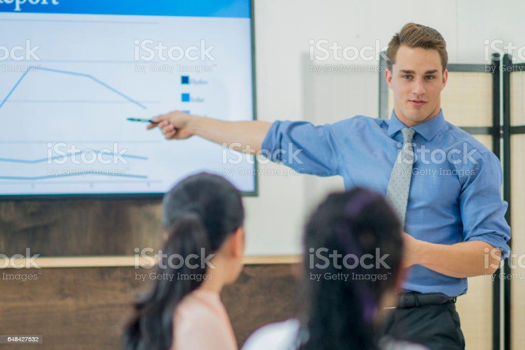 Presenting in the Boardroom stock photo