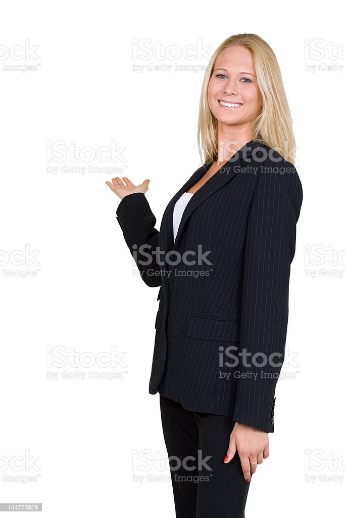Presenting royalty-free stock photo