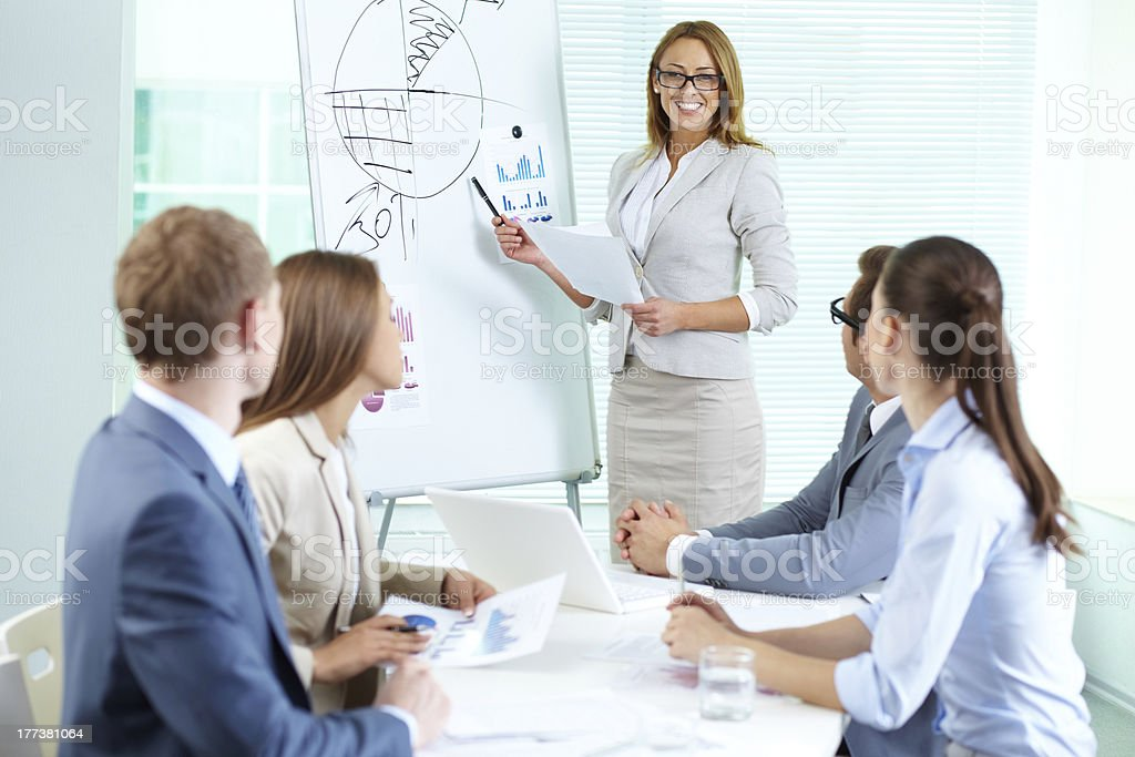 Presenting strategy royalty-free stock photo