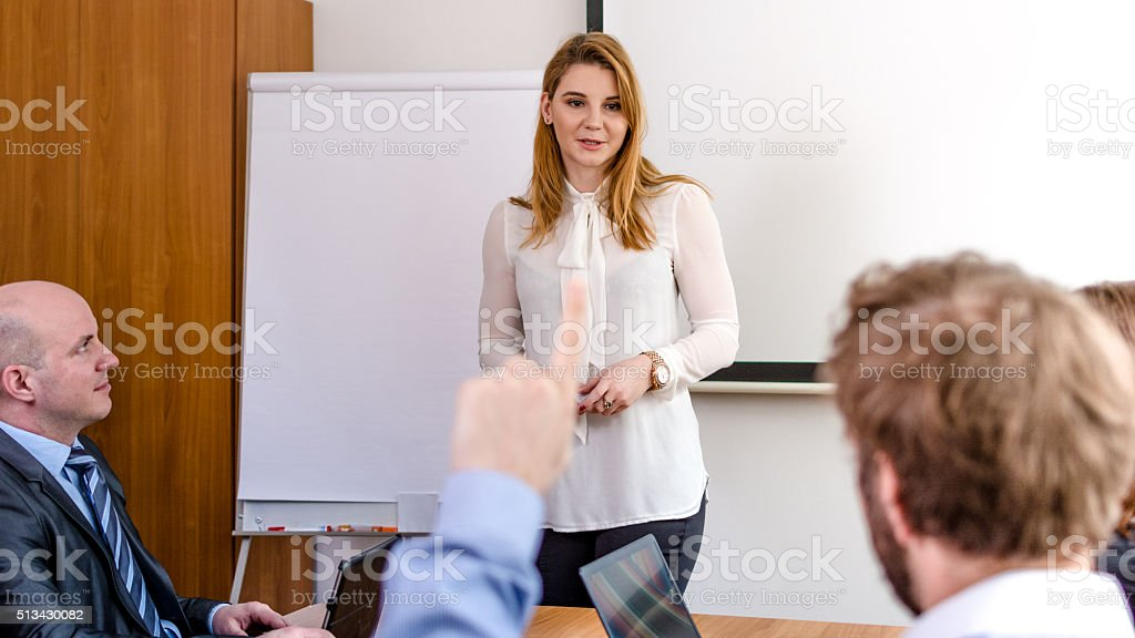 Presenting strategy stock photo