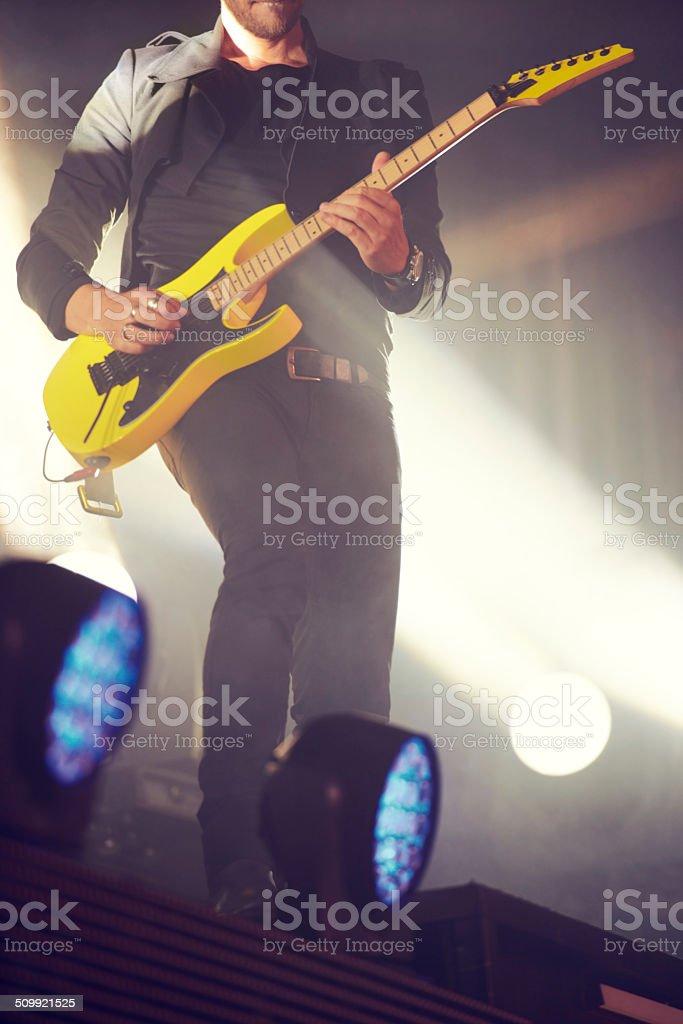 Presenting the Guitar Hero! royalty-free stock photo