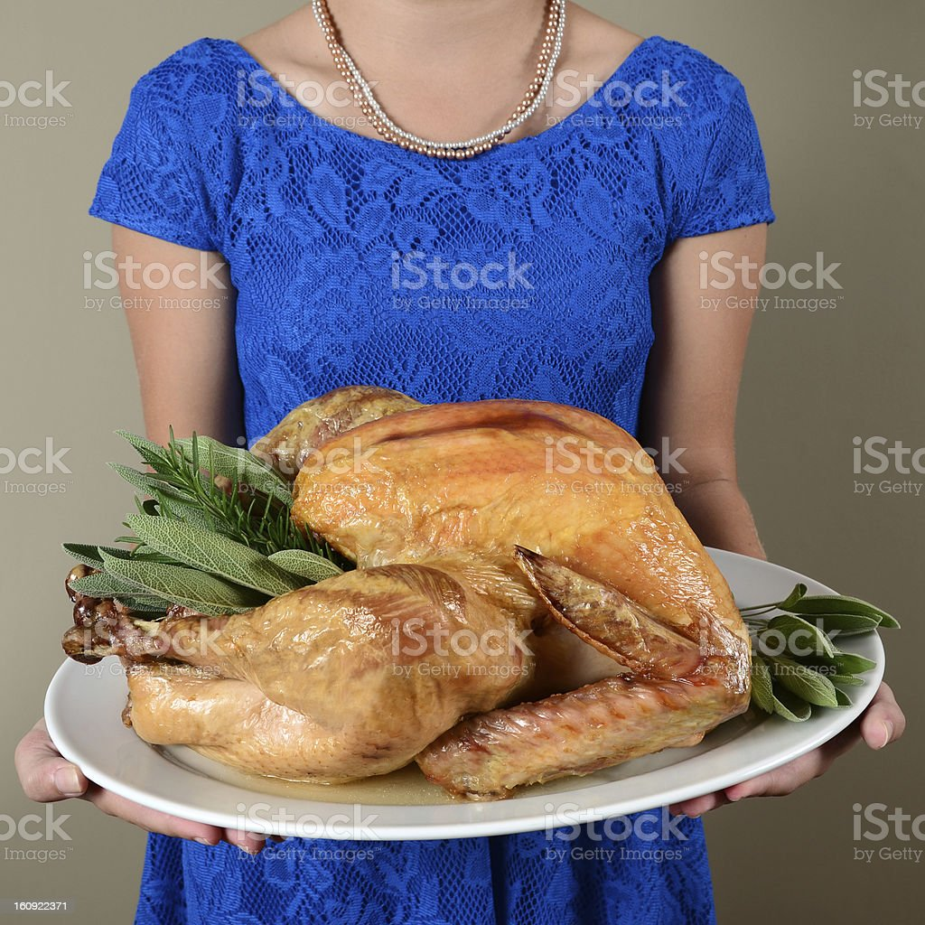 Presenting the Holiday Turkey royalty-free stock photo