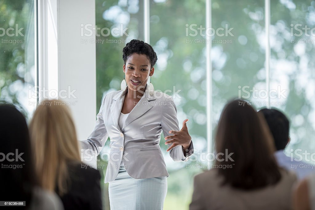 Presenting to New Employees stock photo