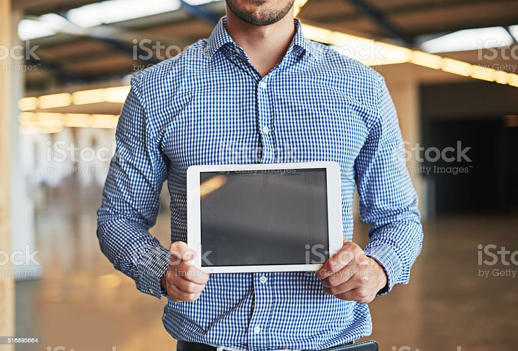 Presenting your professional webpage stock photo
