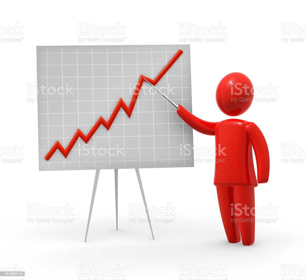 Presention of growth royalty-free stock photo