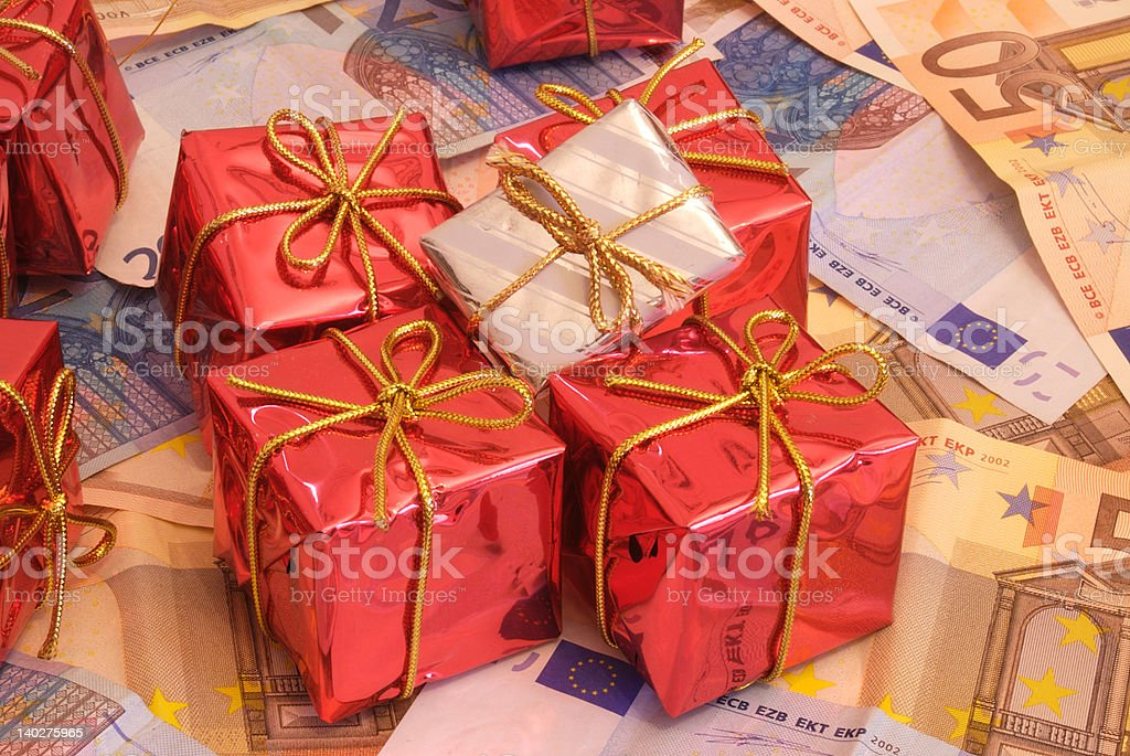 Presents and money 2-2 royalty-free stock photo