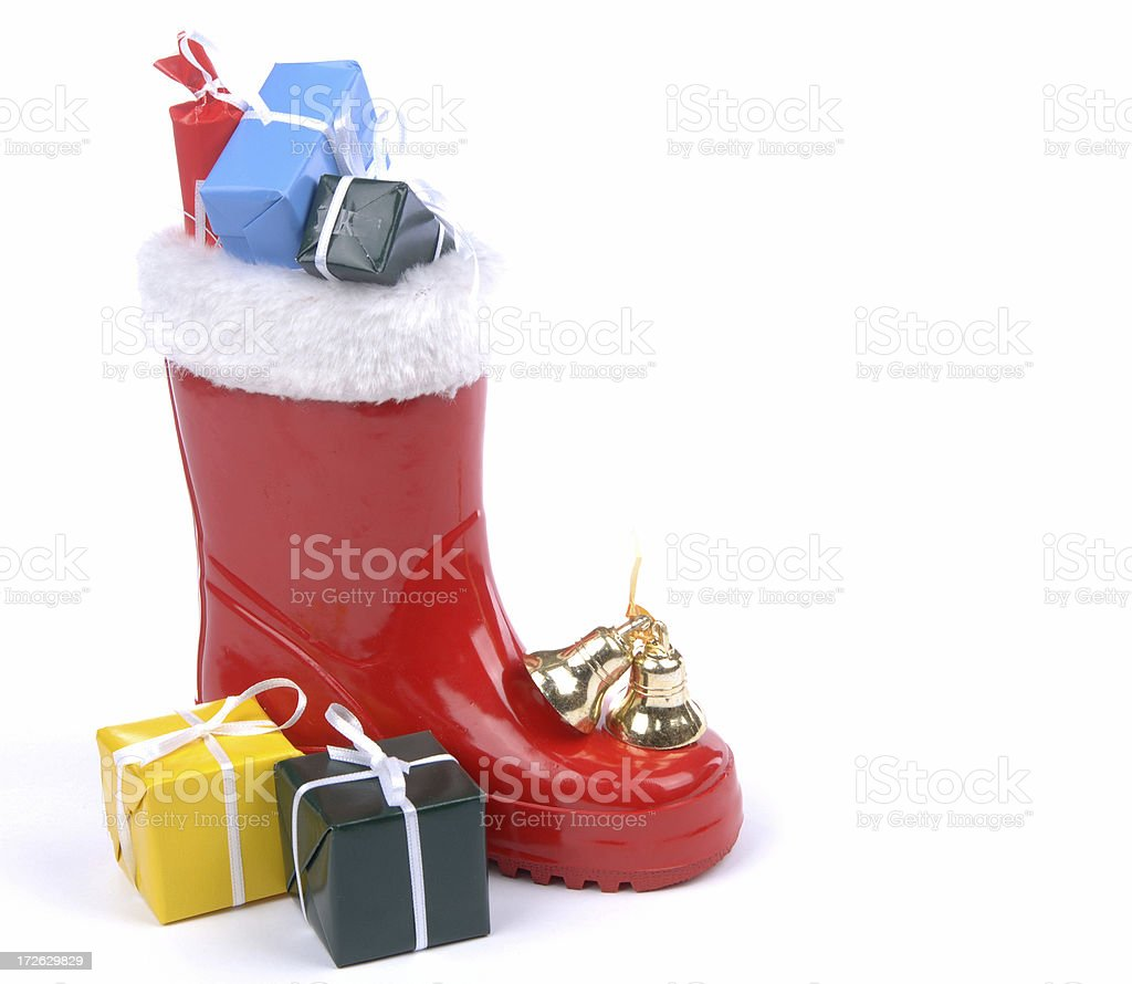 presents from Santa Claus royalty-free stock photo