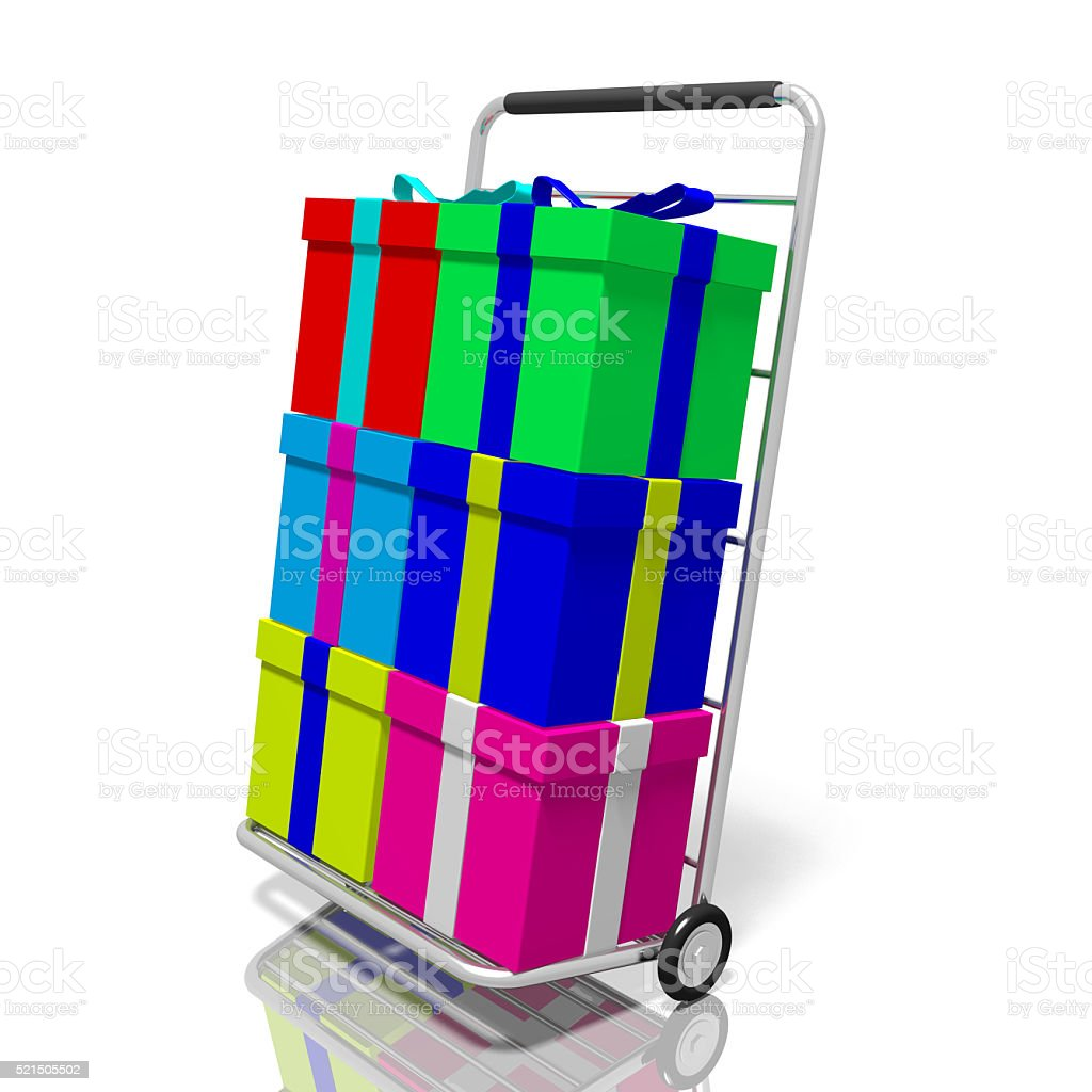 Presents/ gifts and a cart stock photo