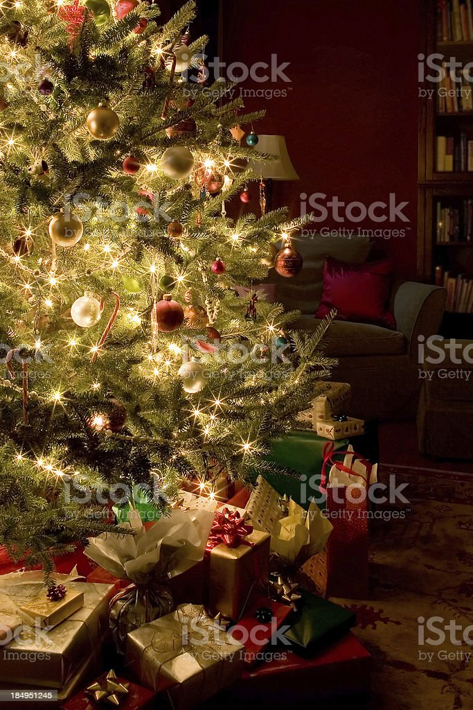 Presents under a Christmas Tree royalty-free stock photo
