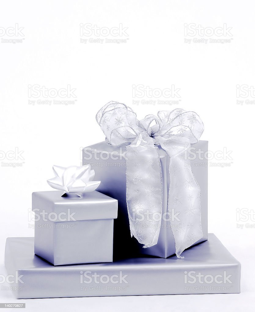Presents with Bows royalty-free stock photo