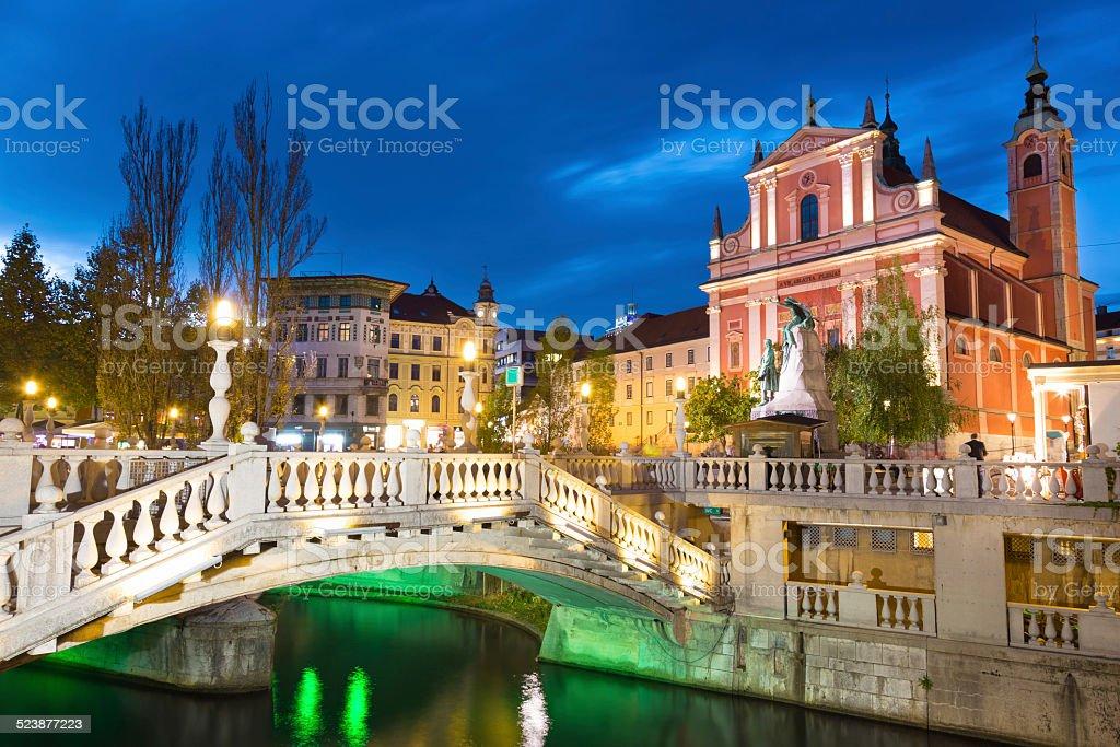 Preseren-Platz, Ljubljana (Slowenien, der Hauptstadt. Lizenzfreies stock-foto