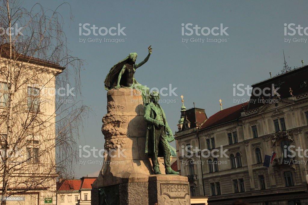Presern Statue stock photo