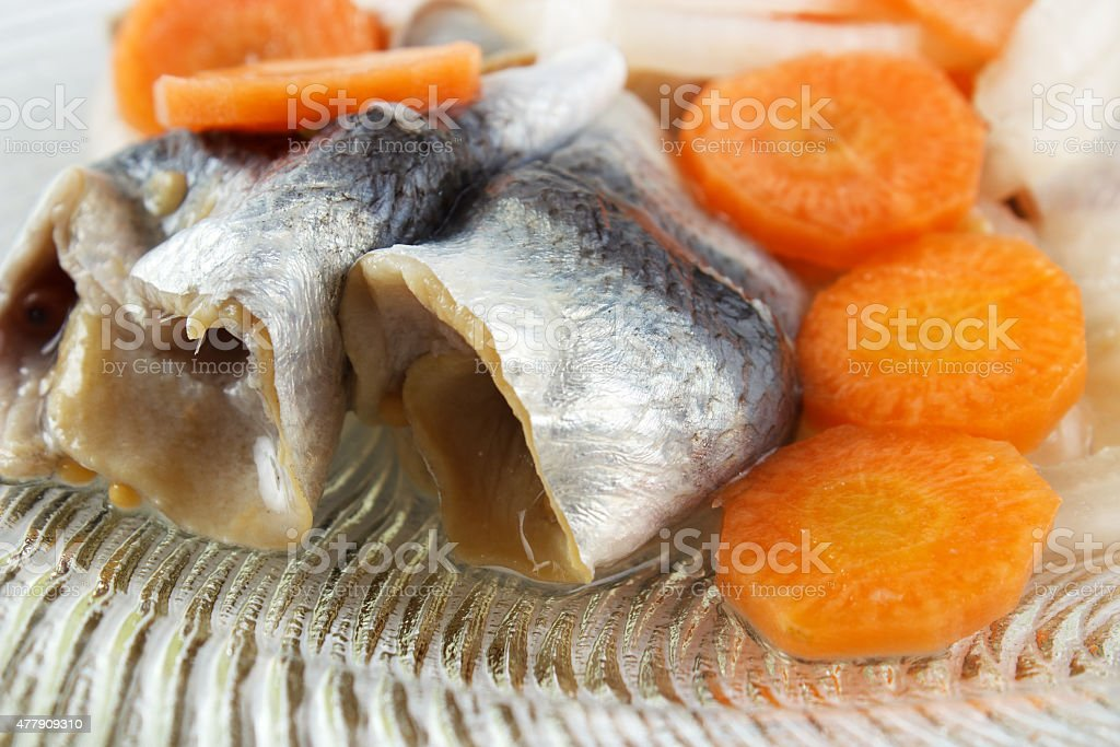 Preserved and pickled fish royalty-free stock photo