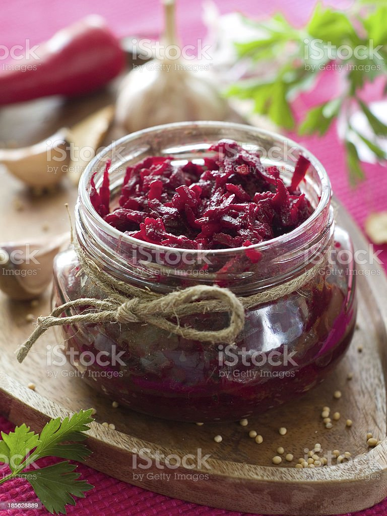 Preserved beet royalty-free stock photo