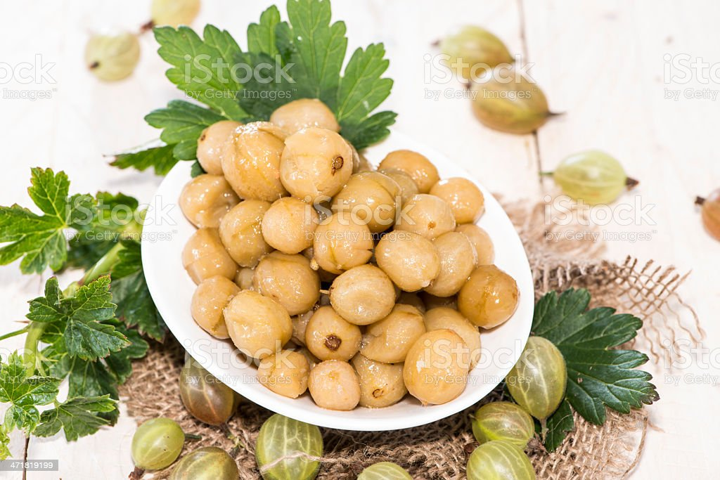 Preserved Gooseberries royalty-free stock photo