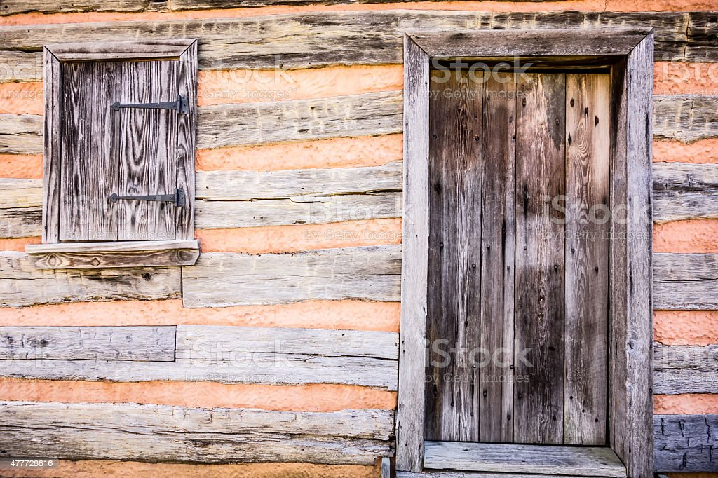 preserved histric wood house stock photo