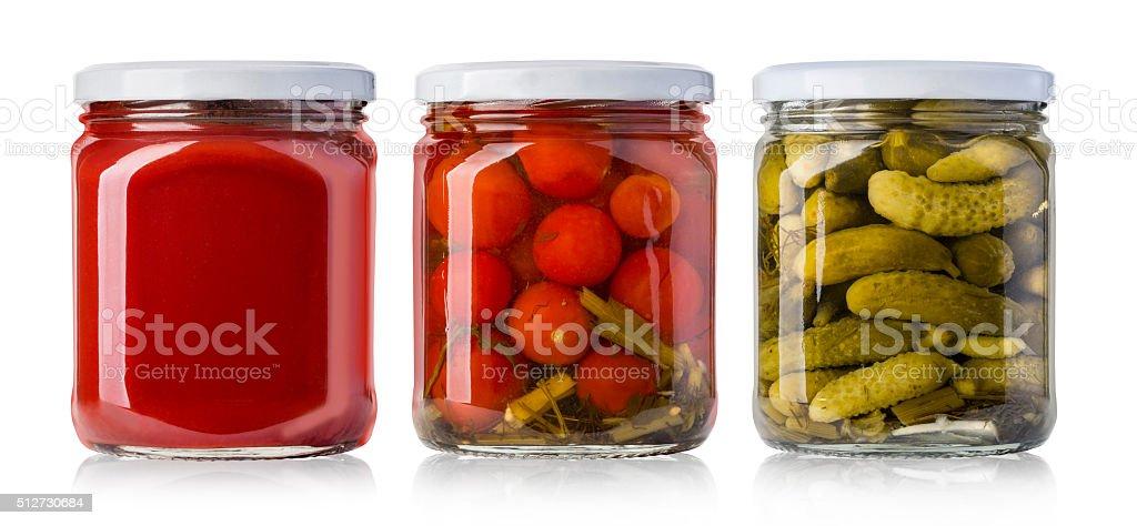 Preserved, pickled vegetables stock photo