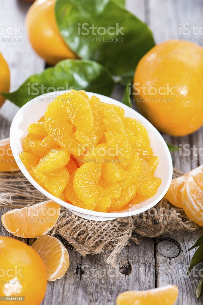 Preserved Tangerines royalty-free stock photo