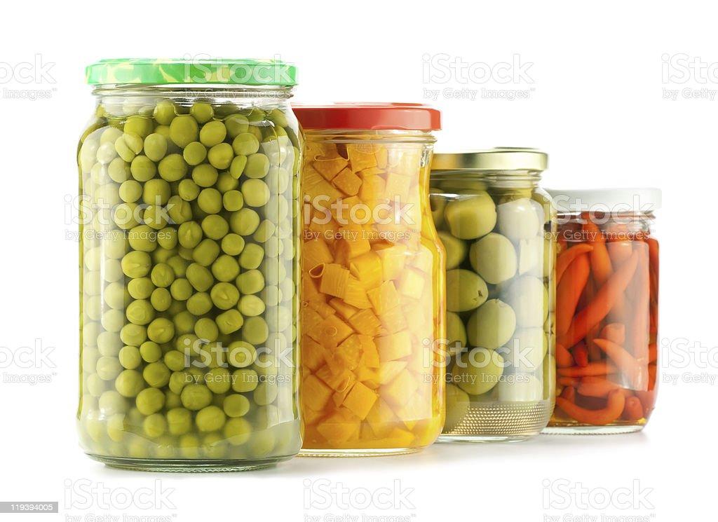 Preserved vegetables stock photo