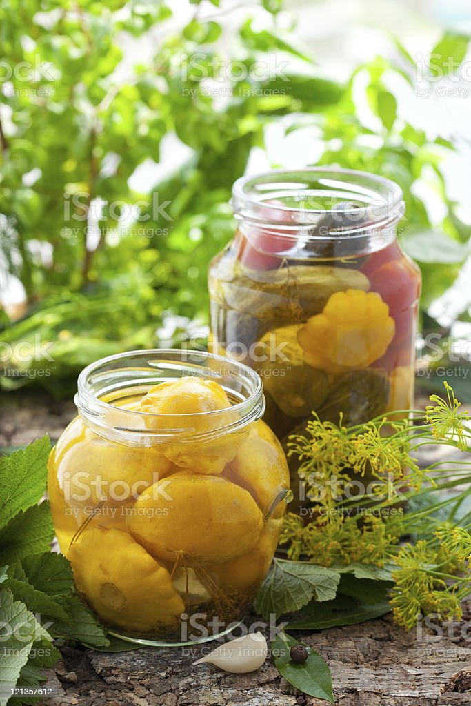 Preserved vegetables royalty-free stock photo