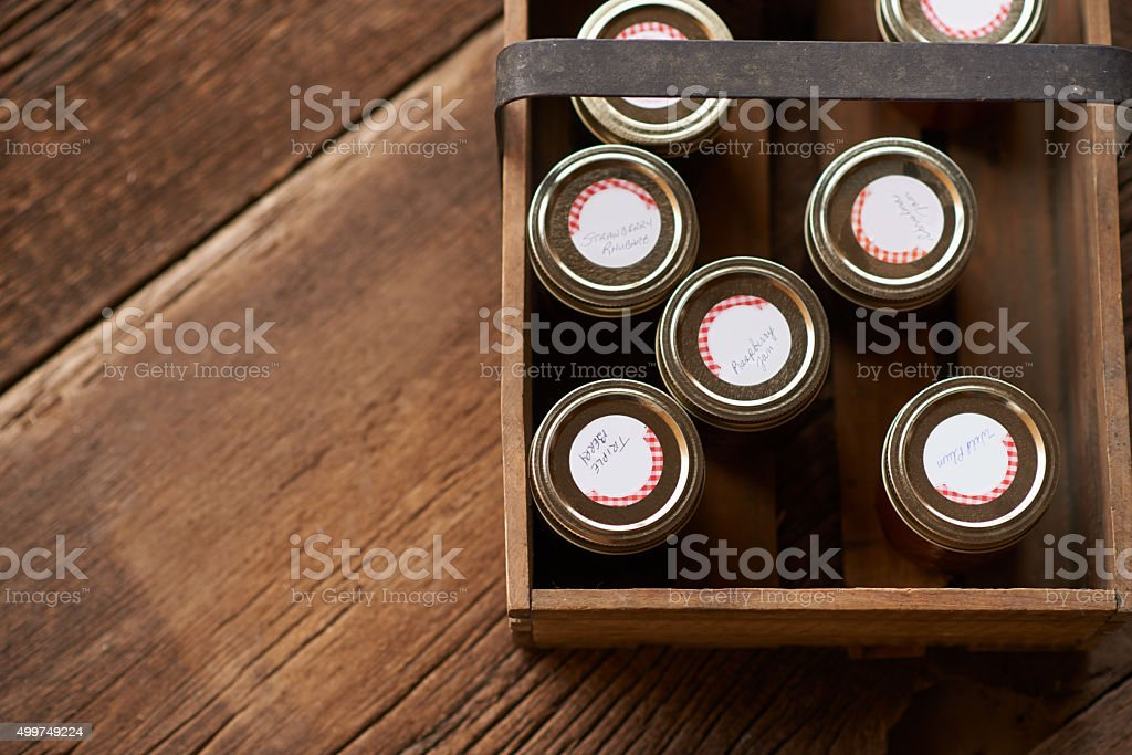Preserves packed for your purchase stock photo