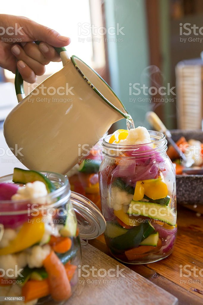 Preserving Fresh Seasonable Vegetables stock photo