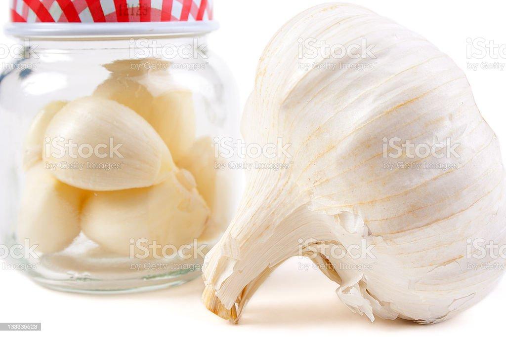 Preserving garlic royalty-free stock photo