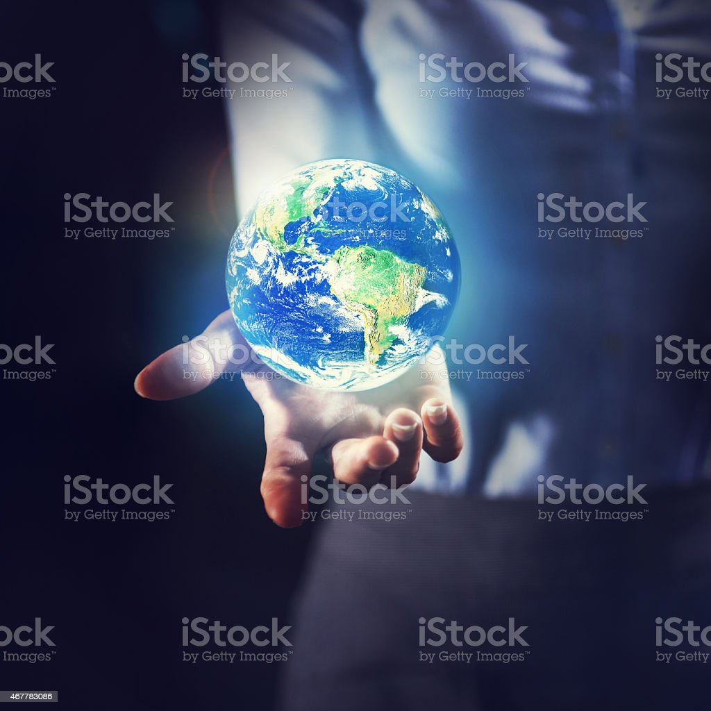 Preserving the earth stock photo