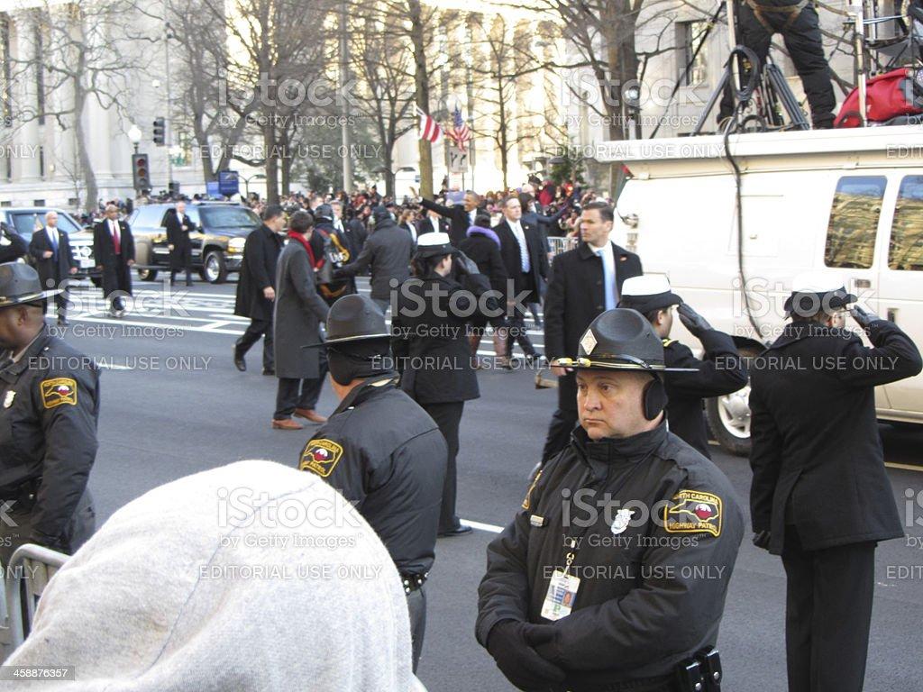 President Barack Obama Steps Out stock photo