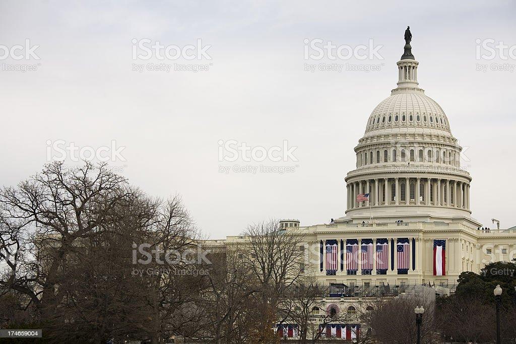 'President Barack Obama's Inauguration, Washington DC Capitol Bui' stock photo