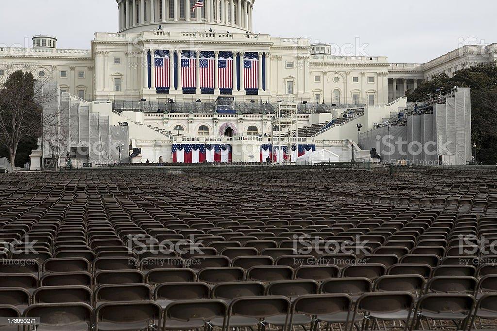 President Barack Obama's Inauguration, Washington DC Capitol Building royalty-free stock photo