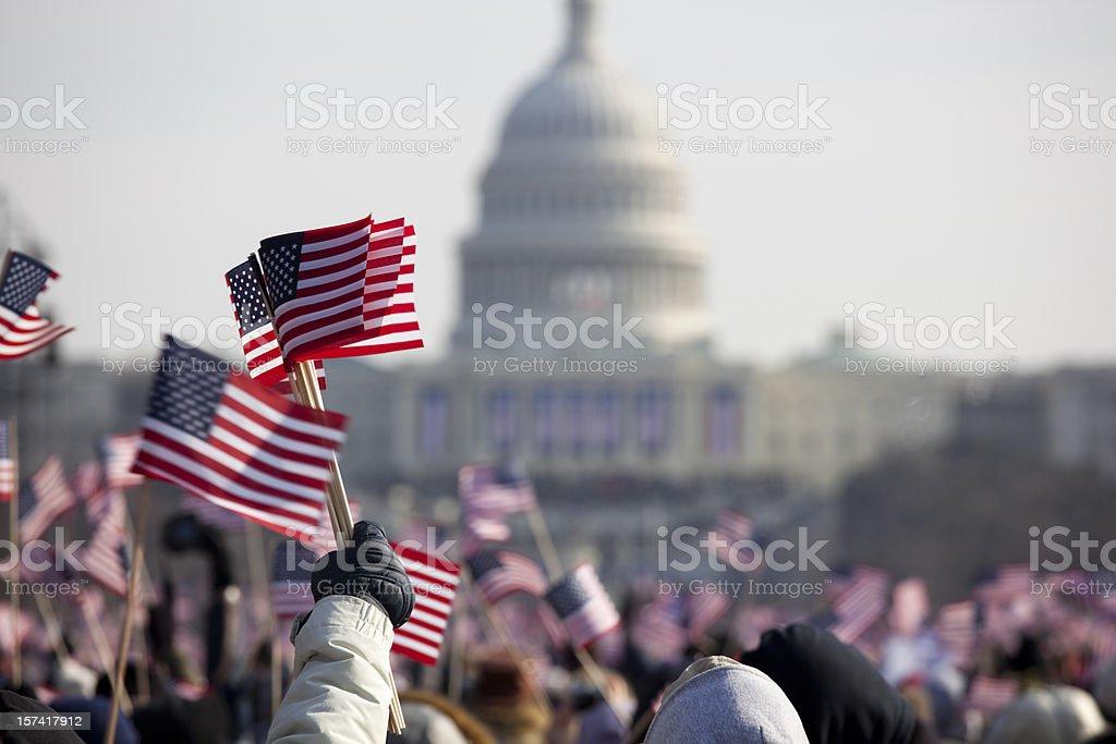 President Barack Obama's Presidential Inauguration at Capitol Building, Washington DC royalty-free stock photo