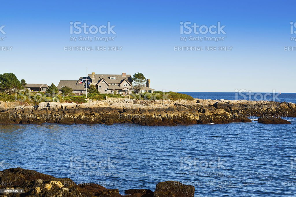 President Bush compound, Kennebunkport, Maine. royalty-free stock photo